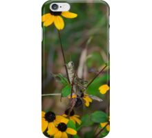 Grasshopper on Wildflowers iPhone Case/Skin