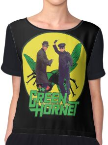 Funny Green Hornet Chiffon Top