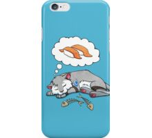 Kitteh dreams of sushi iPhone Case/Skin