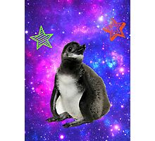 Rufus the Space Penguin Photographic Print