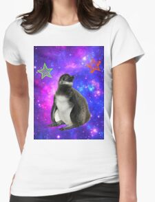 Rufus the Space Penguin Womens Fitted T-Shirt