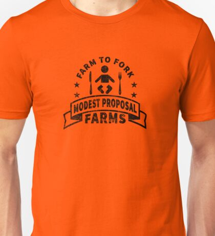 Modest Proposal - From Farm to Fork Unisex T-Shirt