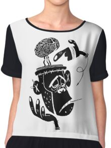 Numb Skull Monkey Chiffon Top