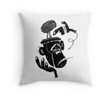 Numb Skull Monkey Throw Pillow