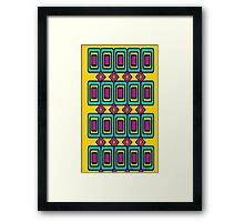 Let the Sunshine In Pop Mod 1970s boldness Framed Print