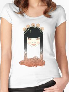 Spaghetti girl Women's Fitted Scoop T-Shirt