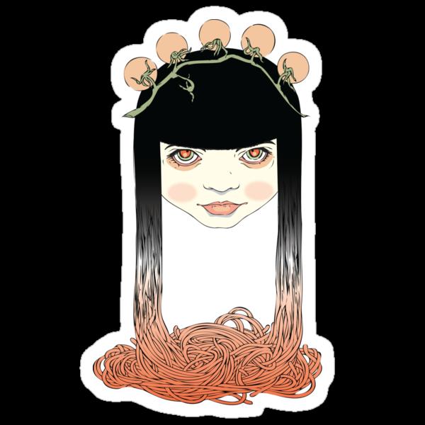 Spaghetti girl by smalldrawing