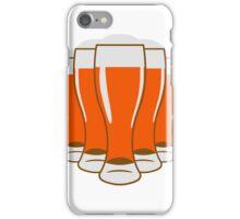 Beer drinking beer glass iPhone Case/Skin