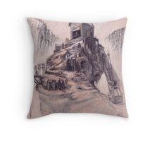 The Casket Maker's Shop  Throw Pillow