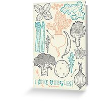 I love vegetables! Greeting Card