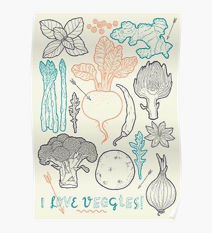 I love vegetables! Poster