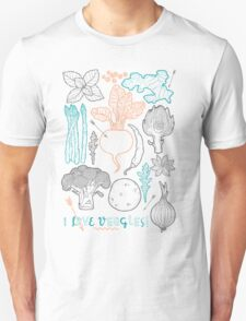 I love vegetables! Unisex T-Shirt