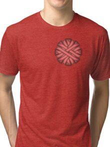 Pink Flower Ribbon Tri-blend T-Shirt