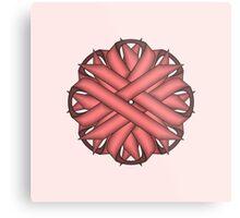 Pink Flower Ribbon Metal Print