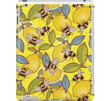 Yellow lemon and bee garden. iPad Case/Skin