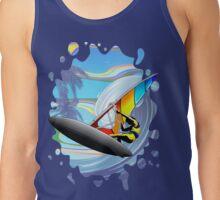 Windsurfer on Ocean Waves Tank Top