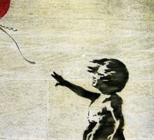 Banksy's Girl with a Red Balloon Sticker