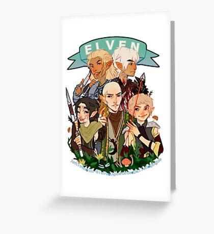 Dragon Age Elves Greeting Card