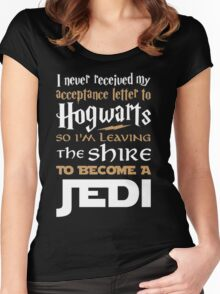 Harry Potter Star Wars Women's Fitted Scoop T-Shirt