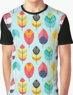 Fun Feathers (blue version) Graphic T-Shirt