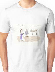 Meditation Guru Cartoon/Comic Humour/Humor Unisex T-Shirt