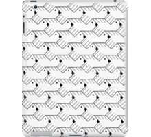 For the Birds- Black & White iPad Case/Skin