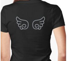 Chibi Angel Wings Womens Fitted T-Shirt