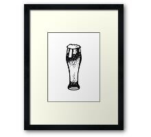 Beer Beer Glass pils Framed Print