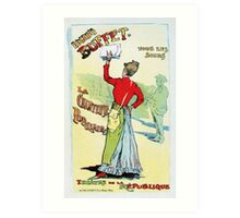 Vintage French female singer Eugenie Buffet advert  Art Print