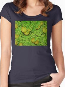 Oranges, oranges, lovely oranges. Women's Fitted Scoop T-Shirt