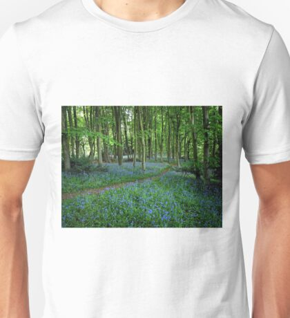 Bluebell Forest, East Sussex Unisex T-Shirt