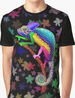 Chameleon Fantasy Rainbow Colors Graphic T-Shirt