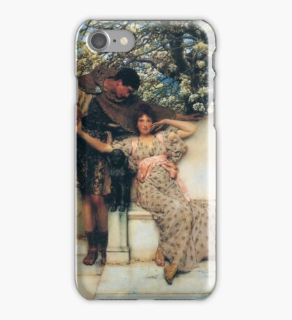 promise-of-spring by Lawrence Alma-Tadema iPhone Case/Skin