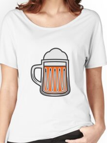 Beer tankard beer glass Women's Relaxed Fit T-Shirt