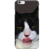 HUNGRY TUXEDO CAT iPhone Case/Skin