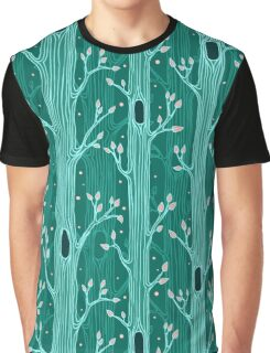 Emerald forest. Seamless pattern with trees Graphic T-Shirt