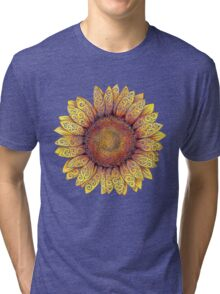 Swirly Sunflower Tri-blend T-Shirt
