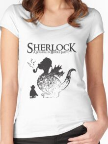 Sherlock: A Scandal in Middle-earth Women's Fitted Scoop T-Shirt