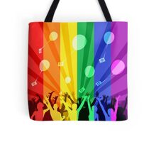 Happy people launch balloons Tote Bag