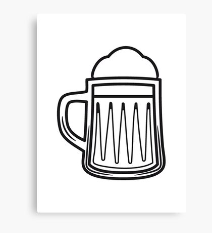 Beer tankard beer glass Canvas Print