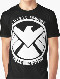 S.H.I.E.L.D. Academy Operations Division (white) Graphic T-Shirt