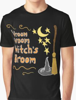 Vroom, Vroom, Witch's Broom Graphic T-Shirt