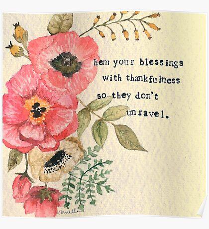 Hem Your Blessings Poster
