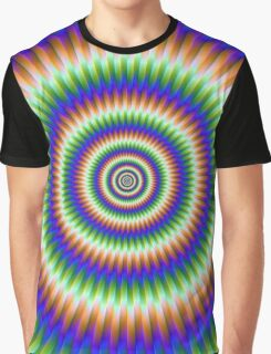 Rings in Orange Blue and Green Graphic T-Shirt