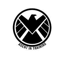 Agent In Training (Black) Photographic Print