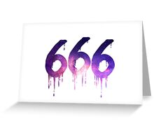 666 - White Greeting Card