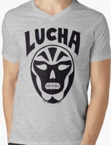 Lucha Wrestling Mens V-Neck T-Shirt