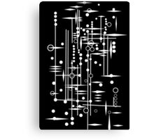 Kree City Blueprints (White) Canvas Print