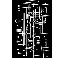 Kree City Blueprints (White) Photographic Print