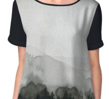 View of the Snow Storm Chiffon Top